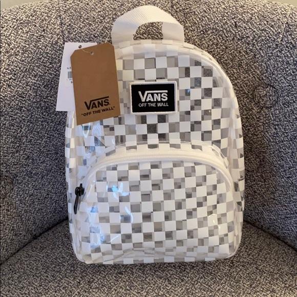 ✨NEW✨ VANS OTF Mini Checkerboard Clear Backpack